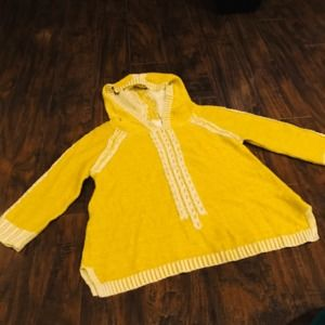 Anthropologie Far from Close green hooded sweater